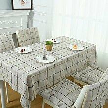 Z&N Modernes, Baumwoll- und Leinen-Tischtuch, TV-Schrank-Kaffeetuch, universelle Tischtücher, multifunktionales Staubtuch, geeignet für Picknicks, Party, grünes Lager, kann gewaschen werden,C,130*230cm