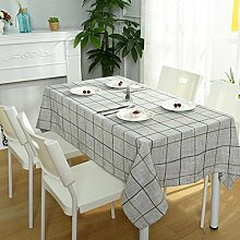 Z&N Modernes, Baumwoll- und Leinen-Tischtuch, TV-Schrank-Kaffeetuch, universelle Tischtücher, multifunktionales Staubtuch, geeignet für Picknicks, Party, grünes Lager, kann gewaschen werden,A,100*160cm