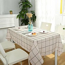 Z&N Modernes, Baumwoll- und Leinen-Tischtuch, TV-Schrank-Kaffeetuch, universelle Tischtücher, multifunktionales Staubtuch, geeignet für Picknicks, Party, grünes Lager, kann gewaschen werden,B,130*240cm