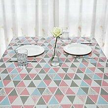 Z&N Modernes handgemachtes Tischtuch wischt sauberes Tuch wasserdichte Tischdecke für Restaurant Küche Garten Hotel CaféA140*240cm