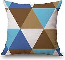 Z&N Neue dreieckige geometrische hochwertige Baumwolle und Leinen Kissen Kissenbezüge Taillenkissen geeignet für jeden Sitz kreative Geschenke HeimtextilienH18in*18in*1pc