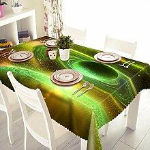 Z&N Neue Garten kreative 3d Polyester Faser Anti-Fouling Staub Anti-Hochtemperatur geeignet für Heimküche Nachttisch Hochzeit im Freien Picknick verschiedene Größe Tischdecke (B4),B,round 180cm