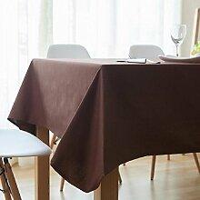 Z&N Nordic Modern Einfach Tischtuch Dicke Rechteckige Baumwolle Einfarbige Tischdecken Wohnzimmer Restaurant Dekoration Tischdecken Mehrzweck-Hotel Kaffeehaus Staub Tuch C140*200cm