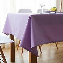 Z&N Nordic Modern Einfach Tischtuch Dicke Rechteckige Baumwolle Einfarbige Tischdecken Wohnzimmer Restaurant Dekoration Tischdecken Mehrzweck-Hotel Kaffeehaus Staub Tuch G130*180cm