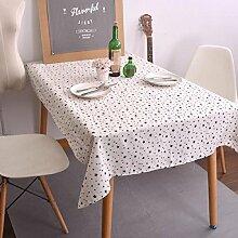 Z&N Tablecloths Koreanische Einfache Stil Geometrische Tischdecke Schwarz Und Weiß Klassische Leinen Kaffeetisch Tuch TischtüCher Heimtextilien Tischdecke Staubdicht Antifouling A 60*60cm(2pcs)