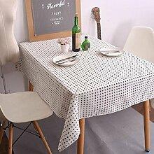 Z&N Tablecloths Koreanische Einfache Stil Geometrische Tischdecke Schwarz Und Weiß Klassische Leinen Kaffeetisch Tuch TischtüCher Heimtextilien Tischdecke Staubdicht Antifouling B 90*140cm