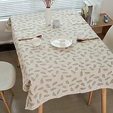Z&N Tablecloths Modern LäNdlichen Stil Ölzweig Leinen Cafe Spitze Tischdecken KüChe Restaurant Wachstuch Hotel Party Garten Outdoor Picknick Multi Verwendung Langlebig Tisch Stoff,A,70*70cm
