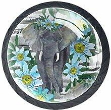 Z&Q Küchenschrank Knöpfe Elefantenblume
