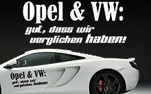 Z390 'Opel und VW: gut, dass wir verglichen