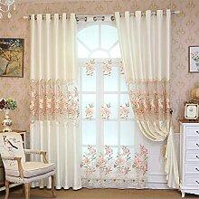 ZAAQ Home Fashions Wohnzimmer-Fenster-Vorhang