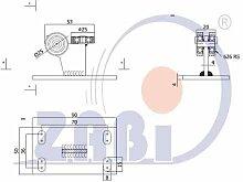 ZAB-S Laufwagen (Code:3M-30) Laufrolle