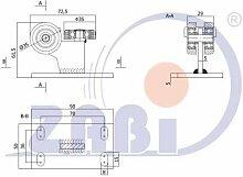ZAB-S Laufwagen (Code:3M-40) Laufrolle