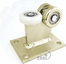 ZAB-S Laufwagen (Code:3M-60/4) Laufrolle Profilmaße:60x60x4 Gartentor Schiebetor Rolltor (3M-60/4)