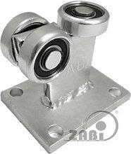 ZAB-S Laufwagen (Code:3MM-50) Laufrolle Profilmaße:50x50x3 Gartentor Schiebetor Rolltor (3MM-50)