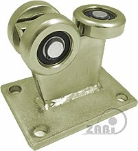 ZAB-S Laufwagen (Code:3MM-60/4) Laufrolle Profilmaße:60x60x4 Gartentor Schiebetor Rolltor (3MM-60/4)