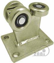 ZAB-S Laufwagen (Code:3MM-60) Laufrolle Profilmaße:60x60x3,5 Gartentor Schiebetor Rollto (3MM-60)
