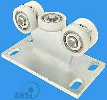 ZAB-S Laufwagen(Code:5M-30) Laufrolle Profilmaße:30x30x2 Gartentor Schiebetor Rolltor (5M-30)