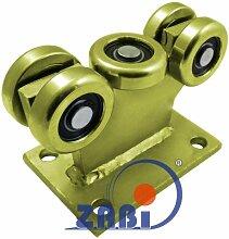 ZAB-S Laufwagen (Code:5MM-60/4) Laufrolle Profilmaße:60x60x4 Gartentor Schiebetor Rolltor (5MM-60/4)
