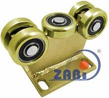 ZAB-S Laufwagen (Code:5MM-80) Laufrolle Profilmaße:80x80x5 Gartentor Schiebetor Rolltor (5MM-80)