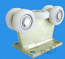 ZAB-S Laufwagen (Code:5T-80/4) Laufrolle Profilmaße:80x80x4 Gartentor Schiebetor Rolltor (5T-80/4)
