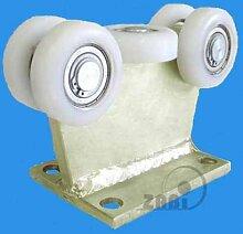 ZAB-S Laufwagen (Code:5T-80) Laufrolle Profilmaße:80x80x5 Gartentor Schiebetor Rolltor (5T-80)