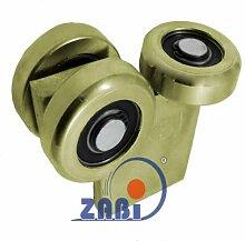 ZAB-S Laufwagen (Code:G-3MM-60) Laufrolle Profilmaße:60x60x3,5 Gartentor Schiebetor Rollto (G-3MM-60)