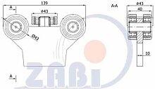 ZAB-S Laufwagen (Code:G-5M-50) Laufrolle