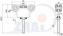 ZAB-S Laufwagen(Code:G-5T-30/8M) Laufrolle Profilmaße:30x30x2 Gartentor Schiebetor Rolltor (G-5T-30/8M)
