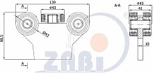 ZAB-S Laufwagen (Code:G-5T-50) Laufrolle