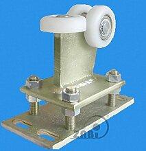 ZAB-S Laufwagen (Code:R-3T-80/4) Laufrolle Profilmaße:80x80x4 Gartentor Schiebetor Rolltor (R-3T-80/4)