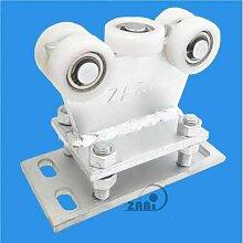 ZAB-S Laufwagen(Code:R-5T-50) Laufrolle Profilmaße:50x50x3 Gartentor Schiebetor Rolltor (R-5T-50)