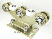 ZAB-S Laufwagen (Code:R-8M-80) Laufrolle Profilmaße:80x80x5 Gartentor Schiebetor Rolltor (R-8M-80)