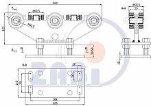 ZAB-S Laufwagen (Code:R-8T-70) Laufrolle Profilmaße:70x70x4 Gartentor Schiebetor Rolltor (R-8T-70)