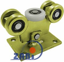 ZAB-S Laufwagen (Code:W-5M-60/4) Laufrolle Profilmaße:60x60x4 Gartentor Schiebetor Rolltor (W-5M-60/4)