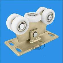 ZAB-S Laufwagen (Code:W-5T-80) Laufrolle Profilmaße:80x80x5 Gartentor Schiebetor Rolltor (W-5T-80)