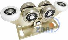 ZAB-S Laufwagen (Code:W-6M-80) Laufrolle Profilmaße:80x80x5 Gartentor Schiebetor Rolltor (W-6M-80)