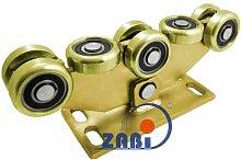 ZAB-S Laufwagen (Code:W-8MM-80) Laufrolle Profilmaße:80x80x5 Gartentor Schiebetor Rolltor (W-8MM-80)