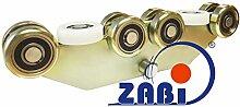 ZAB-S Laufwagen (Code:WG-10M-80) Laufrolle Profilmaße:80x80x5 Gartentor Schiebetor Rolltor (WG-10M-80)