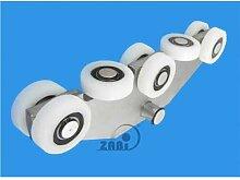 ZAB-S Laufwagen (Code:WG-8T-70) Laufrolle Profilmaße:70x70x4 Gartentor Schiebetor Rolltor (WG-8T-70)