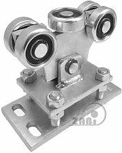 ZAB-S Laufwagen (Code:WR-5MM-50/55) Laufrolle Profilmaße:50x55x2,5 Gartentor Schiebetor Rolltor (WR-5MM-50/55)