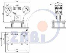 ZAB-S Laufwagen (Code:WR-5MM-70M) Laufrolle