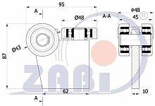 ZAB-S Laufwagen (G-3MM-50/55) Laufrolle