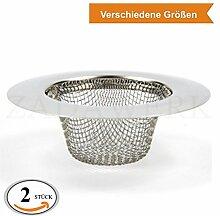 ZADAWERK® Abflusssieb - Fein - Ø 9 cm - 2 Stück