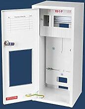 Zählerschrank Verteilerschrank Zählerkasten 1 x 1 Phasen Zähler und 6 Sicherungen Sicherungskasten Aufputz Unterverteiler stahlverzink