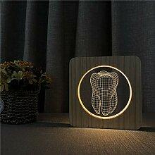 Zähne Design 3D USB LED Kunststoff ABS Lampe