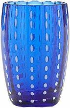 Zafferano-Perle Set 6Gläser Tumbler Blau
