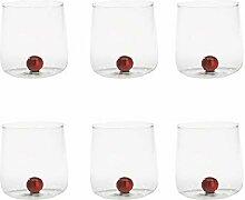 Zafferano Bilia - Handgemachtes Transparent Glas,