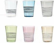 Zafferano Filante Tumbler Set 6 Wassergläser 6
