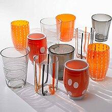 Zafferano - Melting Pot Set mit 6 Bechern Orange /