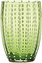 Zafferano Perle Tumbler Wasserglas apfelgrün